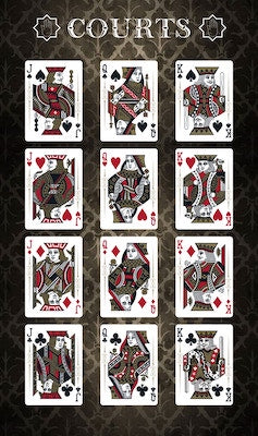 Aphelion Playing Cards - Black - 52 Wonders Playing Cards Spielkarten Bicycle Fontaine Anyone Orbit Butterfly