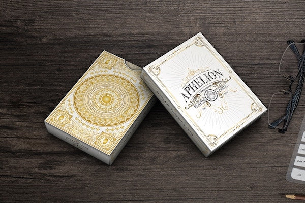 Aphelion Playing Cards - White - 52 Wonders Playing Cards Spielkarten Bicycle Fontaine Anyone Orbit Butterfly