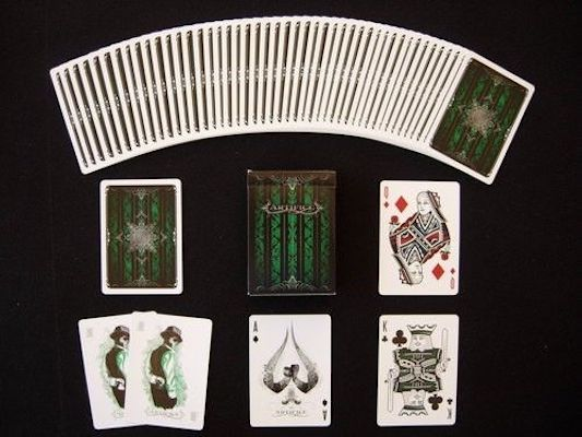 Artifice Playing Cards - Green - 52 Wonders Playing Cards Spielkarten Bicycle Fontaine Anyone Orbit Butterfly