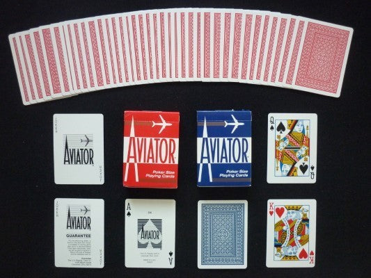 Aviator Playing Cards - Blue - 52 Wonders Playing Cards Spielkarten Bicycle Fontaine Anyone Orbit Butterfly