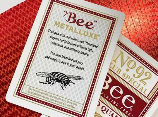 Bee Casino Metalluxe Playing Cards - 52 Wonders Playing Cards Spielkarten Bicycle Fontaine Anyone Orbit Butterfly