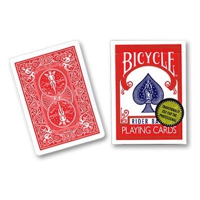 Bicycle Playing Cards - Gold Standard - Red - 52 Wonders Playing Cards Spielkarten Bicycle Fontaine Anyone Orbit Butterfly