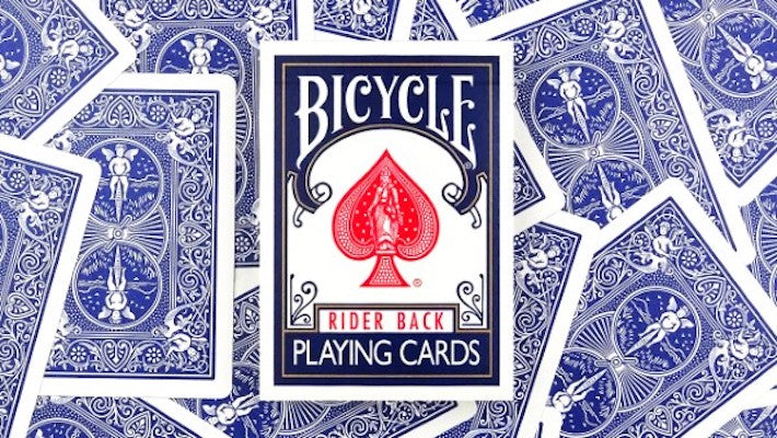 Bicycle Playing Cards - Rider Back - Blue - 52 Wonders Playing Cards Spielkarten Bicycle Fontaine Anyone Orbit Butterfly
