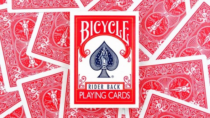 Bicycle Playing Cards - Rider Back - Red - 52 Wonders Playing Cards Spielkarten Bicycle Fontaine Anyone Orbit Butterfly