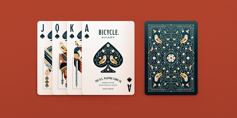 Bicycle Aviary Playing Cards - 52 Wonders Playing Cards Spielkarten Bicycle Fontaine Anyone Orbit Butterfly