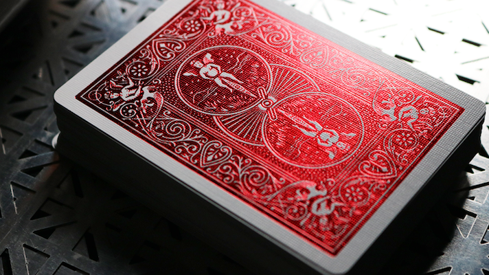 Bicycle Playing Cards Crimson Luxe V2 - Red - 52 Wonders Playing Cards Spielkarten Bicycle Fontaine Anyone Orbit Butterfly
