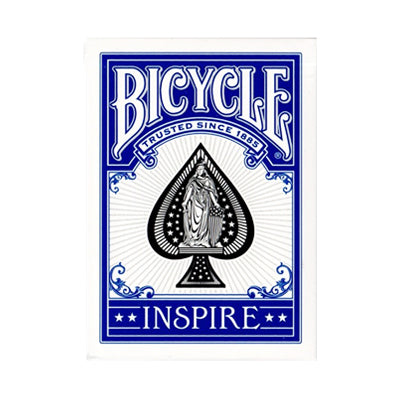 Bicycle Inspire Playing Cards - Blue - 52 Wonders Playing Cards Spielkarten Bicycle Fontaine Anyone Orbit Butterfly