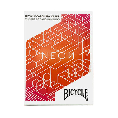 Bicycle Orange Neon Playing Cards - 52 Wonders Playing Cards Spielkarten Bicycle Fontaine Anyone Orbit Butterfly