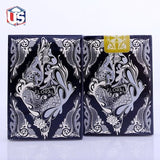 Black Floral Playing Cards