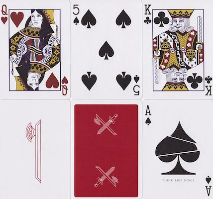 Blood Kings V2 Playing Cards - 52 Wonders Playing Cards Spielkarten Bicycle Fontaine Anyone Orbit Butterfly