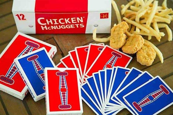 Chicken Nuggets V1 Playing Cards - 52 Wonders Playing Cards Spielkarten Bicycle Fontaine Anyone Orbit Butterfly