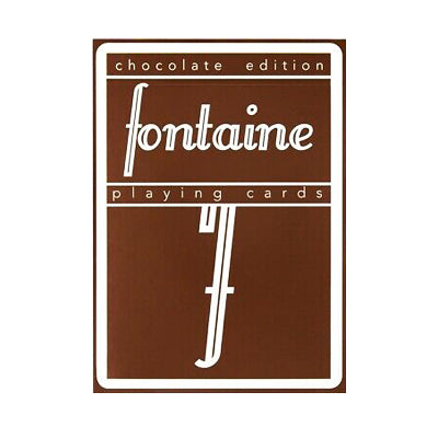 Fontaine Chocolate Playing Cards - 52 Wonders Playing Cards Spielkarten Bicycle Fontaine Anyone Orbit Butterfly
