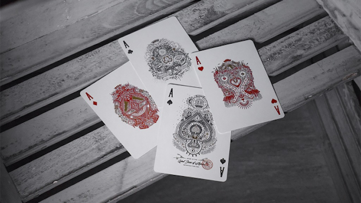 Contraband Playing Cards - 52 Wonders Playing Cards Spielkarten Bicycle Fontaine Anyone Orbit Butterfly