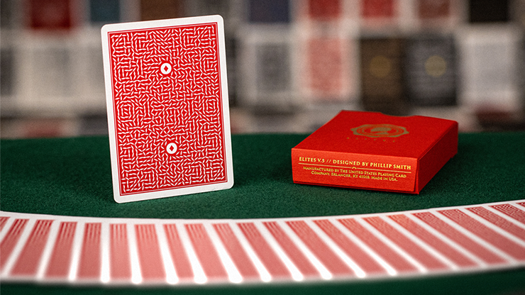 DMC Elites V5 Red Playing Cards - 52 Wonders Playing Cards Spielkarten Bicycle Fontaine Anyone Orbit Butterfly