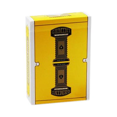 Gemini Casino Playing Cards - Yellow - 52 Wonders Playing Cards Spielkarten Bicycle Fontaine Anyone Orbit Butterfly