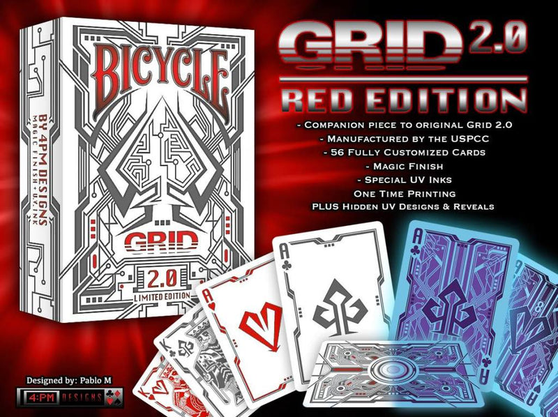 Grid 2.0 Playing Cards Limited Edition - 52 Wonders Playing Cards Spielkarten Bicycle Fontaine Anyone Orbit Butterfly