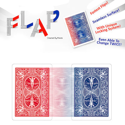 Modern Flap Playing Cards - Red Blue - 52 Wonders Playing Cards Spielkarten Bicycle Fontaine Anyone Orbit Butterfly