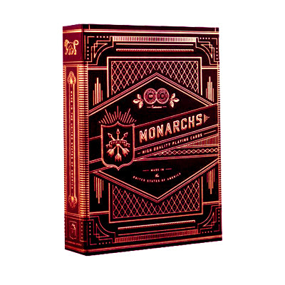 Monarch Playing Cards - Red - 52 Wonders Playing Cards Spielkarten Bicycle Fontaine Anyone Orbit Butterfly