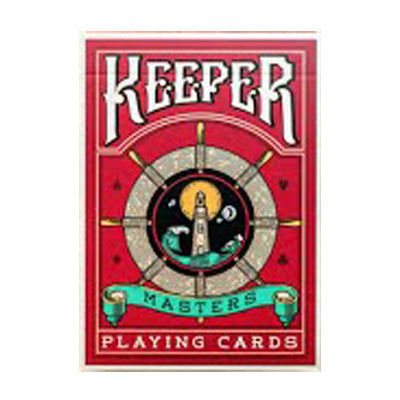 Keeper Playing Cards - Red - 52 Wonders Playing Cards Spielkarten Bicycle Fontaine Anyone Orbit Butterfly