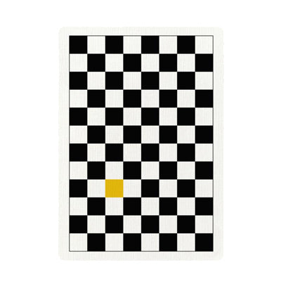 Checkerboard Playing Cards - Yellow