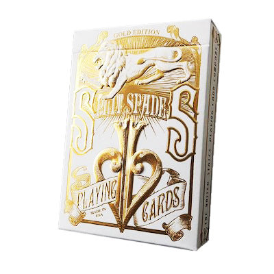 Split Spades Playing Cards - Gold