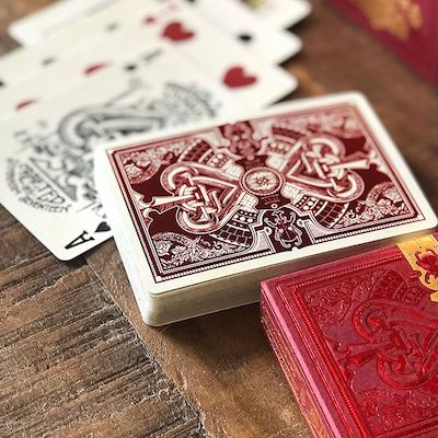 Parlour Playing Cards - Red - 52 Wonders Playing Cards Spielkarten Bicycle Fontaine Anyone Orbit Butterfly