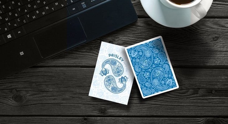 Paisley Playing Cards - Blue - 52 Wonders Playing Cards Spielkarten Bicycle Fontaine Anyone Orbit Butterfly