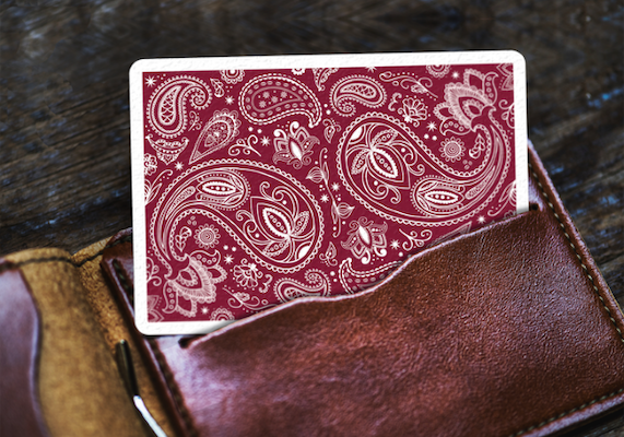 Paisley Playing Cards - Red - 52 Wonders Playing Cards Spielkarten Bicycle Fontaine Anyone Orbit Butterfly