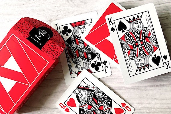 Mako Playing Cards - Red - 52 Wonders Playing Cards Spielkarten Bicycle Fontaine Anyone Orbit Butterfly