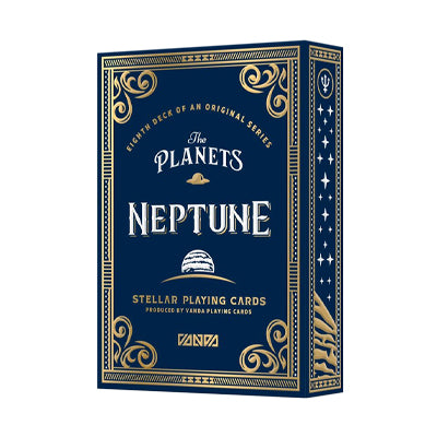 Planet Neptune Playing Cards - Numbered Seal - 52 Wonders Playing Cards Spielkarten Bicycle Fontaine Anyone Orbit Butterfly
