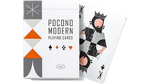 Pocono Retro Playing Cards - White