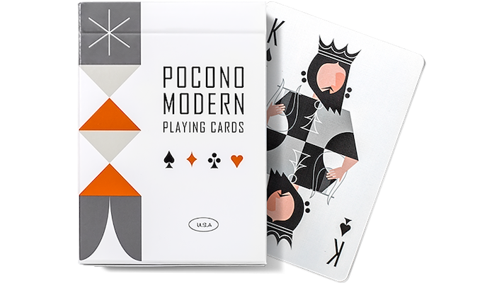 Pocono Retro Playing Cards - White - 52 Wonders Playing Cards Spielkarten Bicycle Fontaine Anyone Orbit Butterfly