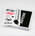Cap Logo Playing Cards - Black