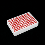 Houndstooth Playing Cards - Red