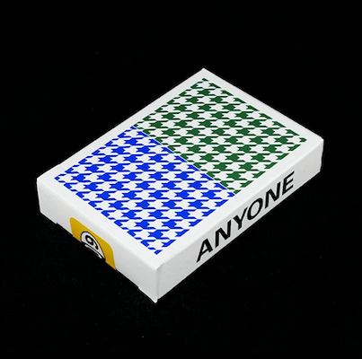Houndstooth Playing Cards - Blue Green - 52 Wonders Playing Cards Spielkarten Bicycle Fontaine Anyone Orbit Butterfly