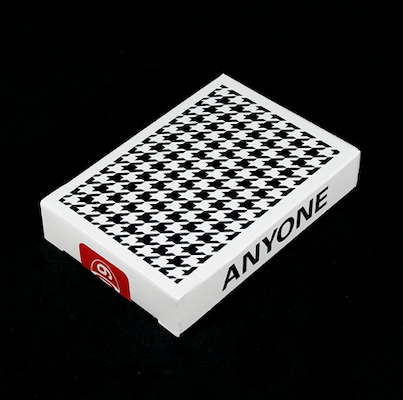 Houndstooth Playing Cards - Black - 52 Wonders Playing Cards Spielkarten Bicycle Fontaine Anyone Orbit Butterfly