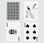 Houndstooth Playing Cards - Black