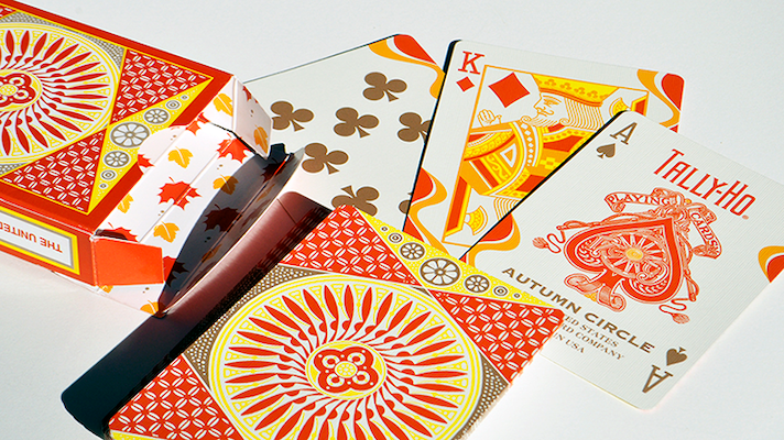 Tally Ho Circle Back Autumn Edition - 52 Wonders Playing Cards Spielkarten Bicycle Fontaine Anyone Orbit Butterfly