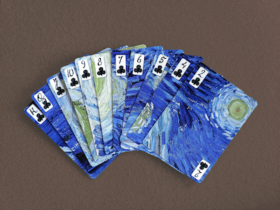 The Starry Night Playing Cards - 52 Wonders Playing Cards Spielkarten Bicycle Fontaine Anyone Orbit Butterfly