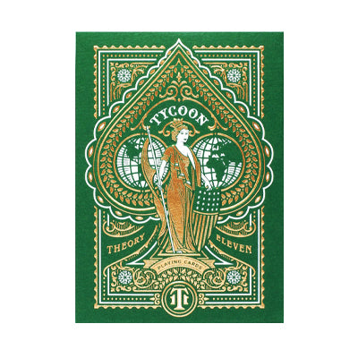 Tycoon Playing Cards - Limited Edition - Green - 52 Wonders Playing Cards Spielkarten Bicycle Fontaine Anyone Orbit Butterfly