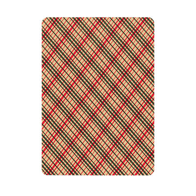Vintage Plaid Playing Cards - Red