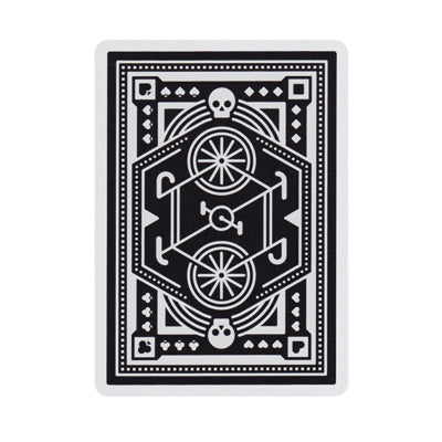Wheels Playing Cards - Black - 52 Wonders Playing Cards Spielkarten Bicycle Fontaine Anyone Orbit Butterfly