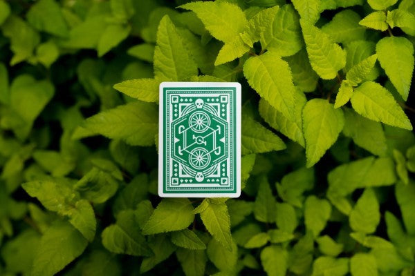 Wheels Playing Cards - Green - 52 Wonders Playing Cards Spielkarten Bicycle Fontaine Anyone Orbit Butterfly