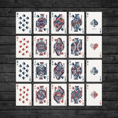 Wheels Playing Cards - Blue - 52 Wonders Playing Cards Spielkarten Bicycle Fontaine Anyone Orbit Butterfly