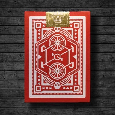 Wheels Playing Cards - Red - 52 Wonders Playing Cards Spielkarten Bicycle Fontaine Anyone Orbit Butterfly