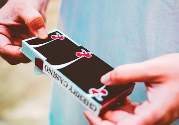 Cherry Casino Playing Cards - Black - 52 Wonders Playing Cards Spielkarten Bicycle Fontaine Anyone Orbit Butterfly