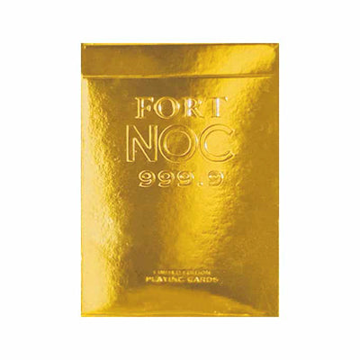 Gold NOC Playing Cards - Limited Edition - 52 Wonders Playing Cards Spielkarten Bicycle Fontaine Anyone Orbit Butterfly