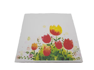 3D Tulips Box Of Flowers Pop Up Card