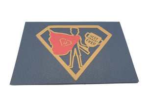 Worlds Best Dad 3D Super Dad Pop Up Card