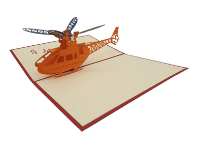 3D Helicopter Pop Up Card